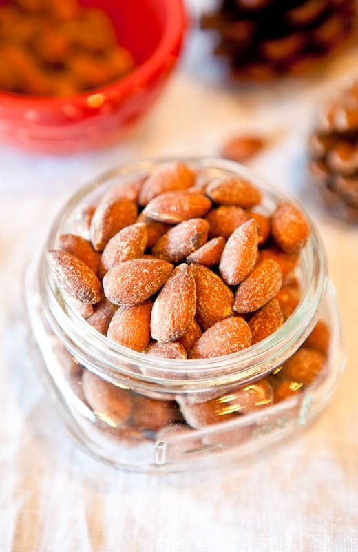 Coconut Cinnamon Sugar Roasted Almonds.  Delicious and makes an easy homemade holiday gift.