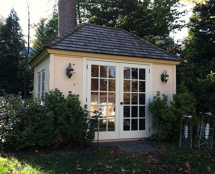 Shed studio backyards gardens pinterest for Garden studio buildings