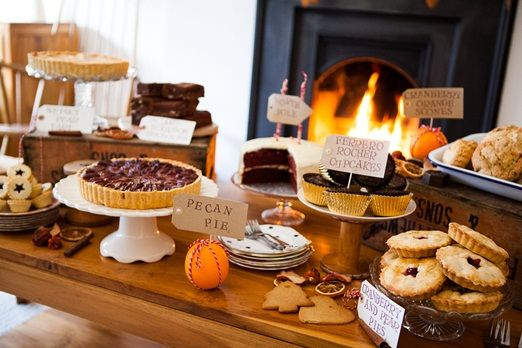 Rustic festive dessert tables from And The Dish Ran Away With The Spoon for a cosy winter wedding