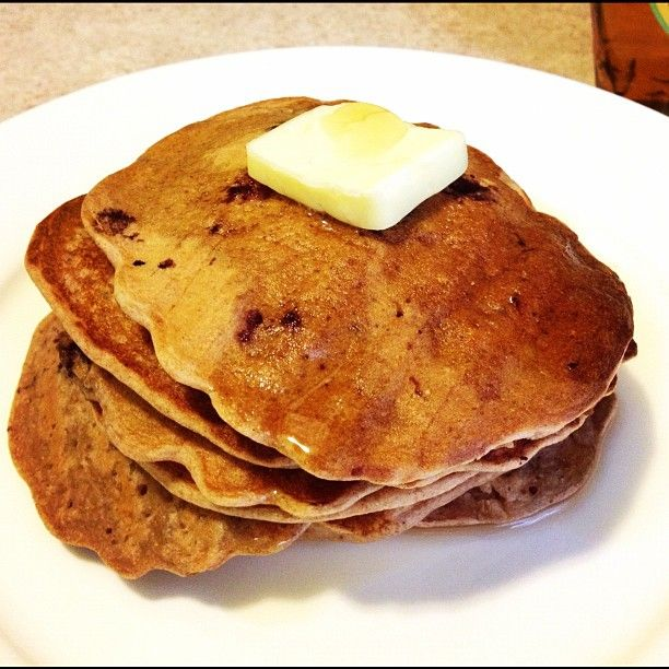 wheat blueberry amp banana pancakes with greek yogurt healthy amp ...