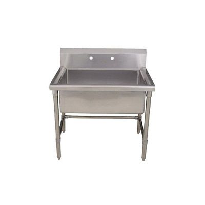 Utility Sink Stainless Steel Freestanding : Whitehaus Freestanding Utility Sink WHLS3618 Brushed Stainless Steel