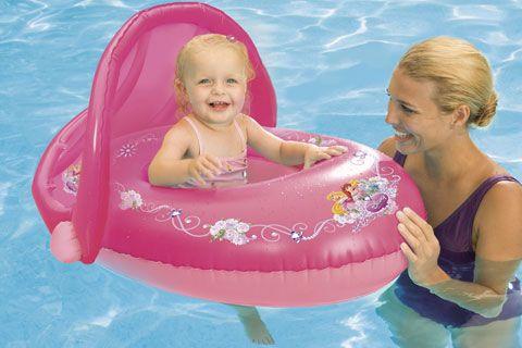 Swimways disney princess sun canopy baby pool float for Princess float ideas