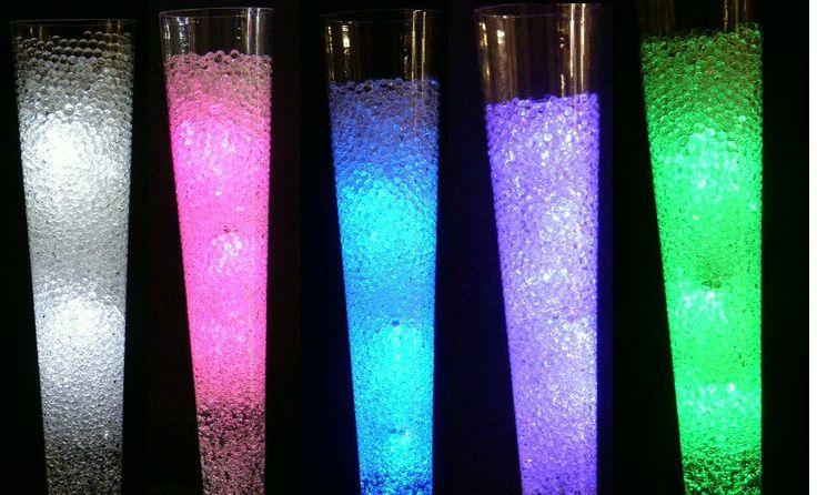 Water pearls clear centerpiece wedding tower vase oz