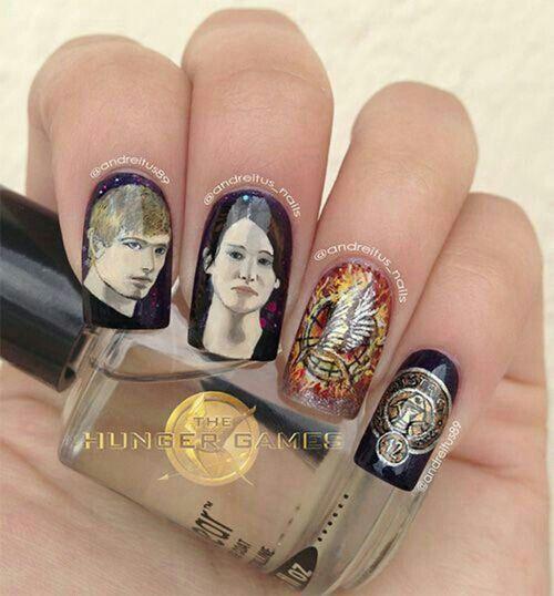 Hunger Games nail art   Nail Art Gallery   Pinterest
