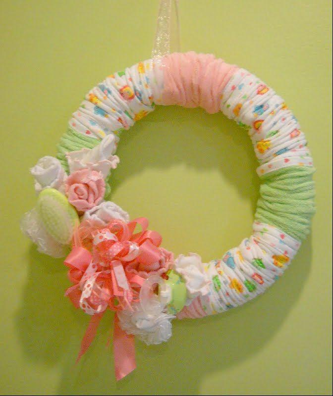 Baby Shower Wreath Images ~ Baby washcloth wreath shower pinterest