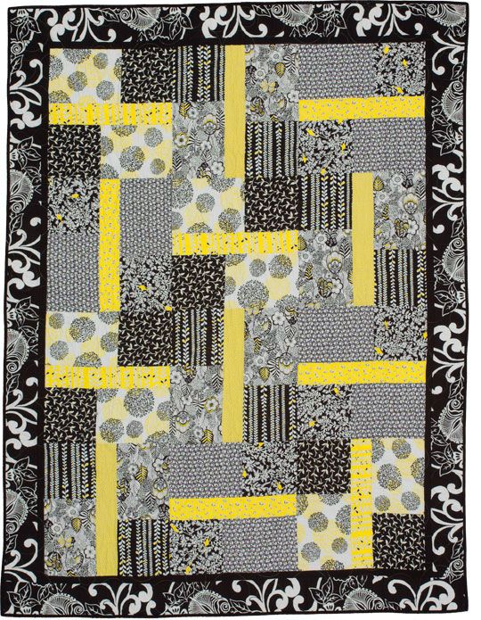 High light quilt quilted pinterest for Black white and gray quilt patterns