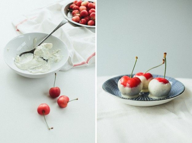 white chocolate covered cherries via not without salt