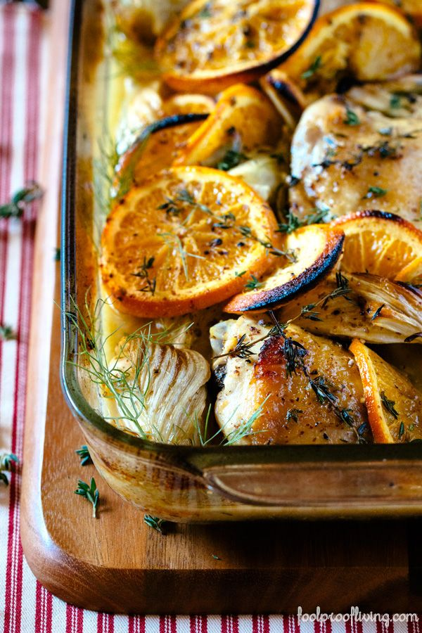 Oven-Roasted Orange Chicken with Fennel. #recipe #chicken #fennel # ...
