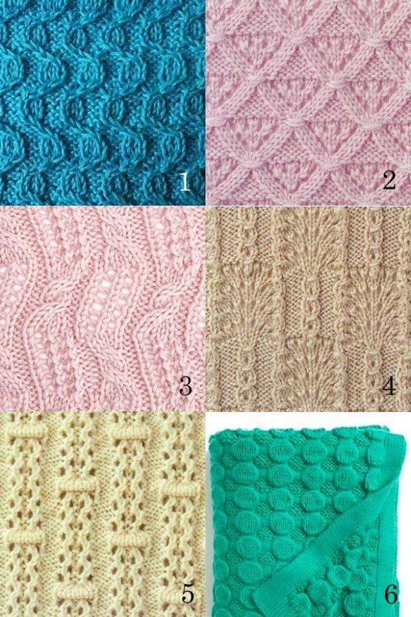 knitting stitches patterns tricot Pinterest