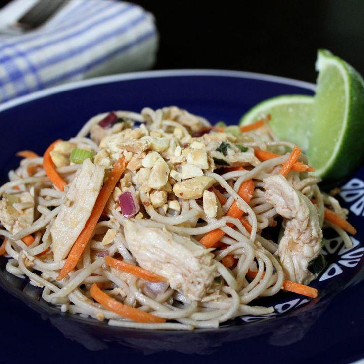 Peanut Soba, Cabbage, And Chicken Salad Recipe — Dishmaps