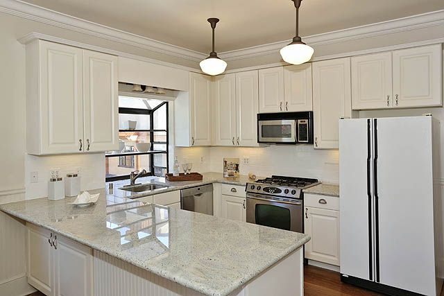 Updated Kitchen Black White Kitchens Pinterest