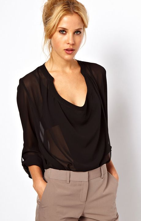 Find great deals on eBay for black sheer blouse. Shop with confidence.