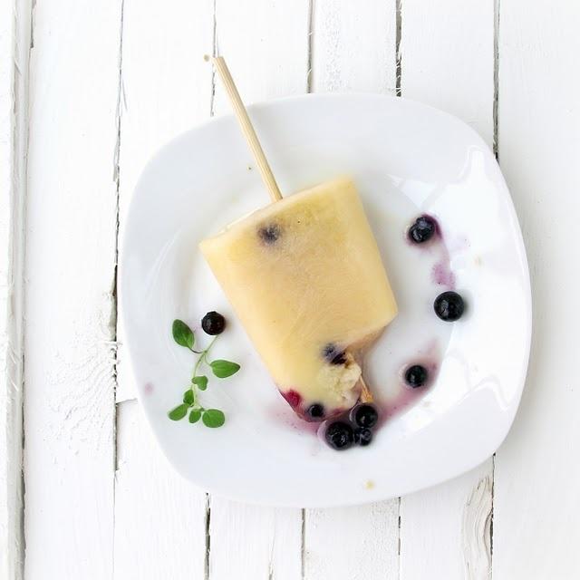 Creamy Orange & Blueberry Pops | Light | Pinterest