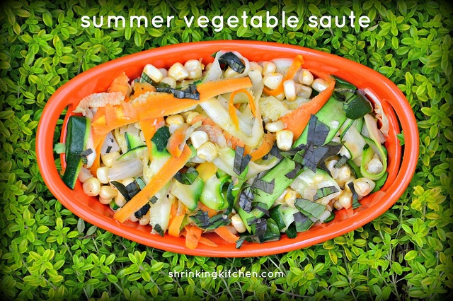 Summer Vegetable Saute @Shrinking Kitchen #healthy #vegetable #quick # ...