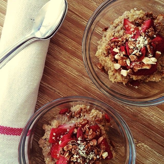 breakfast quinoa! QUINOA and coconut manna vanilla beans strawberry ...