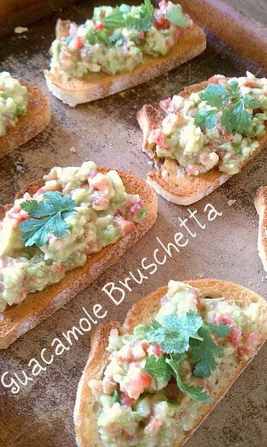 Guacamole Bruschetta | I like food the most | Pinterest