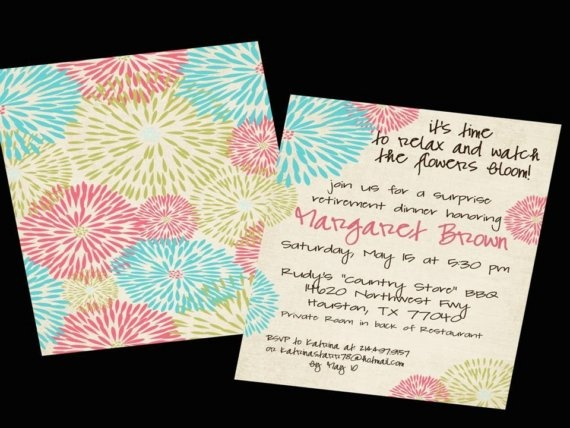 Cute and colorful retirement party invite