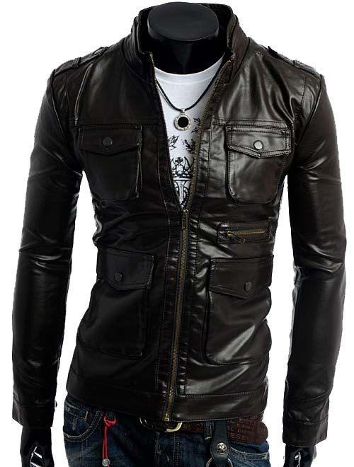Handmade men biker leather #jacketmen slim by customdesignmaster, $139