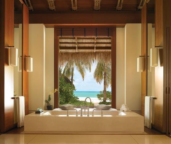 Tropical Bathroom Tropical Style Pinterest