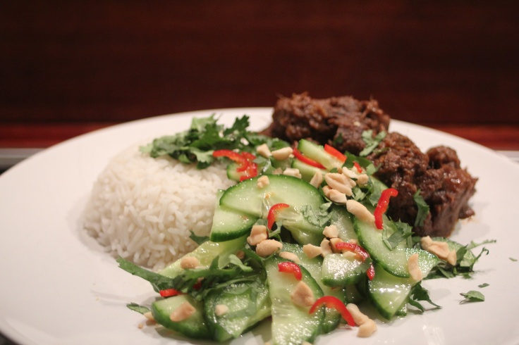 Beef Rendang from Bill Granger's Everyday Asian, served with a ...