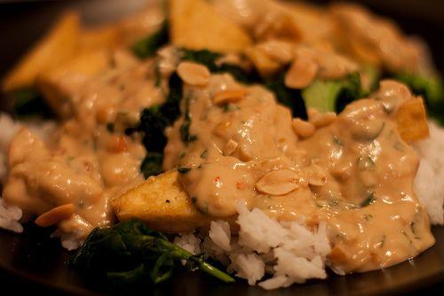Vegetarian Stir Fry with Peanut Sauce