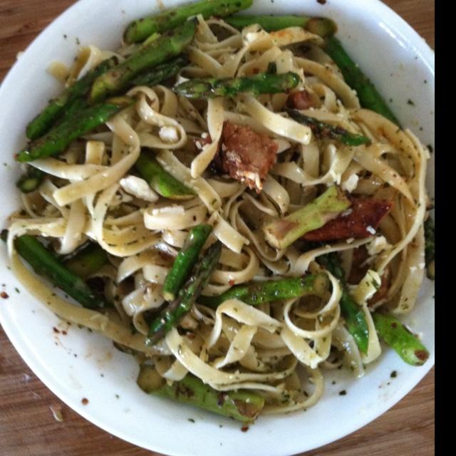 Pesto pasta feta pork asparagus #food | making me hungry... | Pintere ...