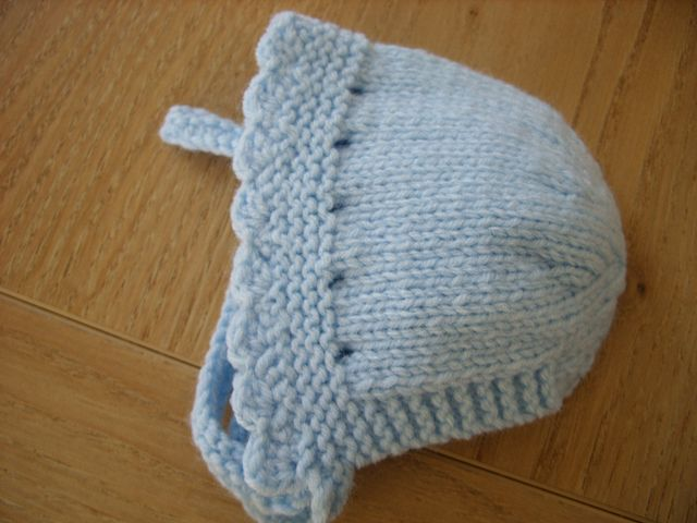 Plain Bonnet with Knitted In Ties pattern by Wye Needlecraft