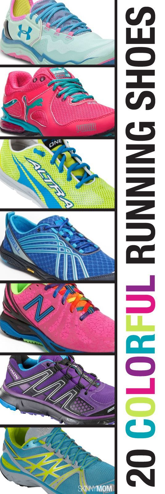 Throw some color in your life with these colorful running shoes
