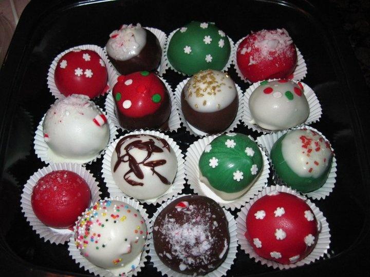 Christmas cake pops Christmas Pinterest