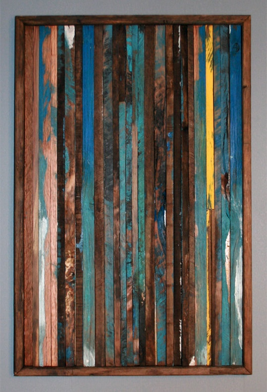 Abstract painting on wood reclaimed wood sculpture wall Reclaimed wood wall art for sale