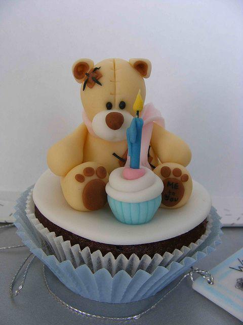 teddy bear cup cake cake decorating ideas pinterest