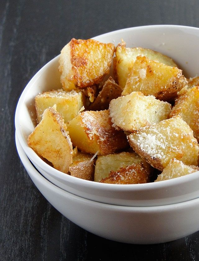 Parmesan roasted potatoes.. | FOOD Favorite Recipes | Pinterest