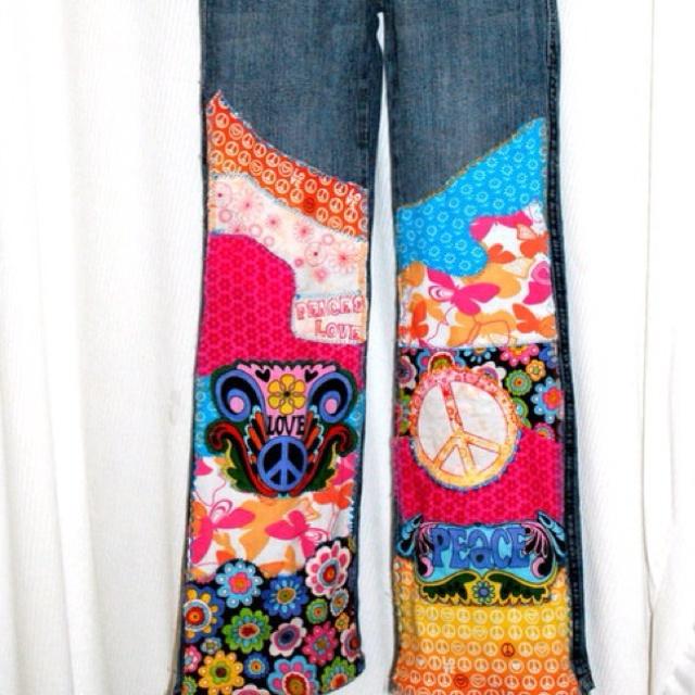 Jeans with appliqué
