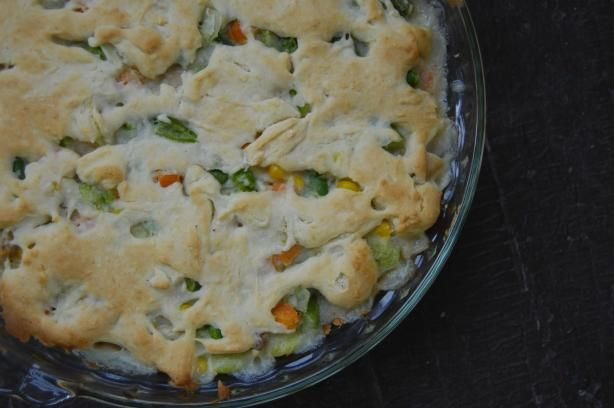 Easy Bisquick Chicken pot Pie -I made with Trader Joes whole grain ...