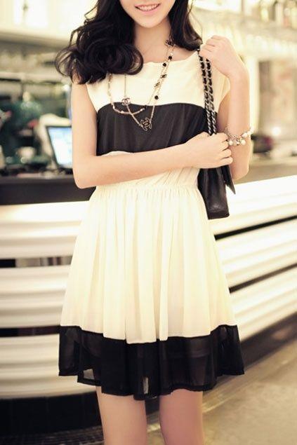 Classy black & white dress