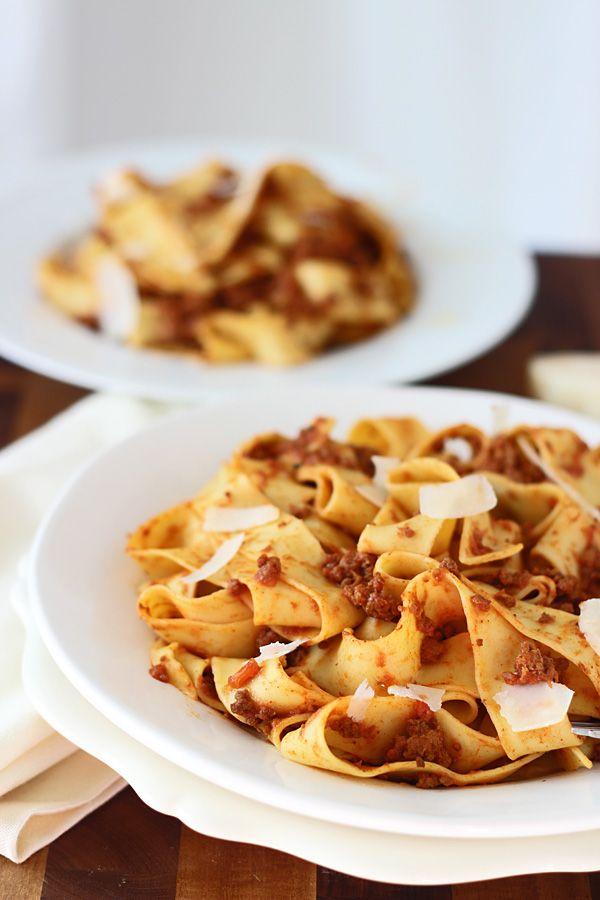 Slow-Cooker Bolognese Pappardelle   Noodle Nirvana   Pinterest