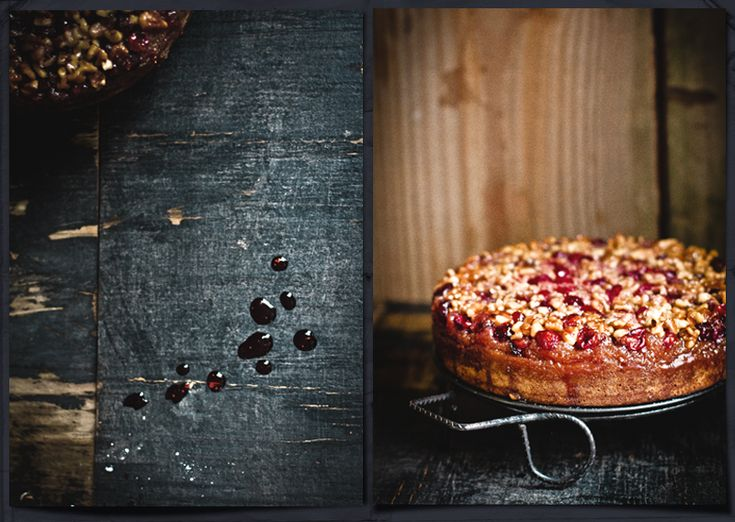 cranberry upside down cake | Food Styling | Pinterest