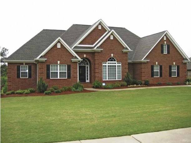 Brick ranch style home for the home pinterest for Brick ranch home plans