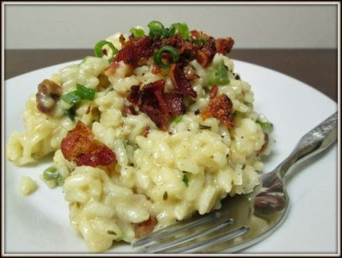 Bacon and Green Onion Risotto | Food | Pinterest
