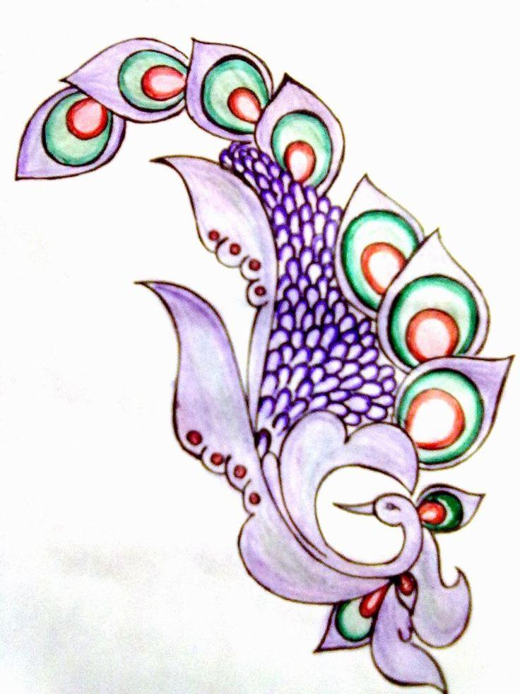 peacock embroidery design tattoo idea tattoos pinterest. Black Bedroom Furniture Sets. Home Design Ideas