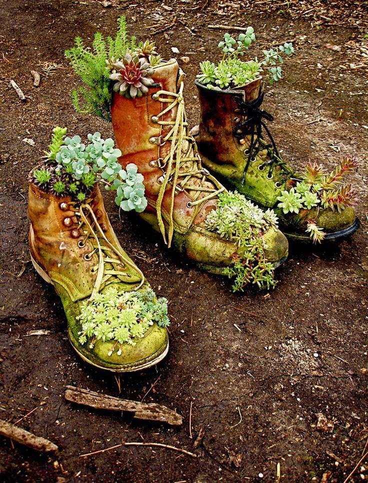 boot planters  Fun idea