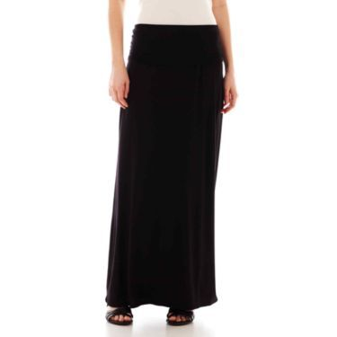 a n a 174 foldover maxi skirt jcpenney skirts
