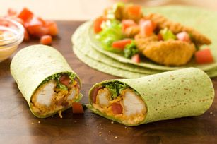 Buffalo Chicken Wraps. Made them tonight for supper using chicken ...