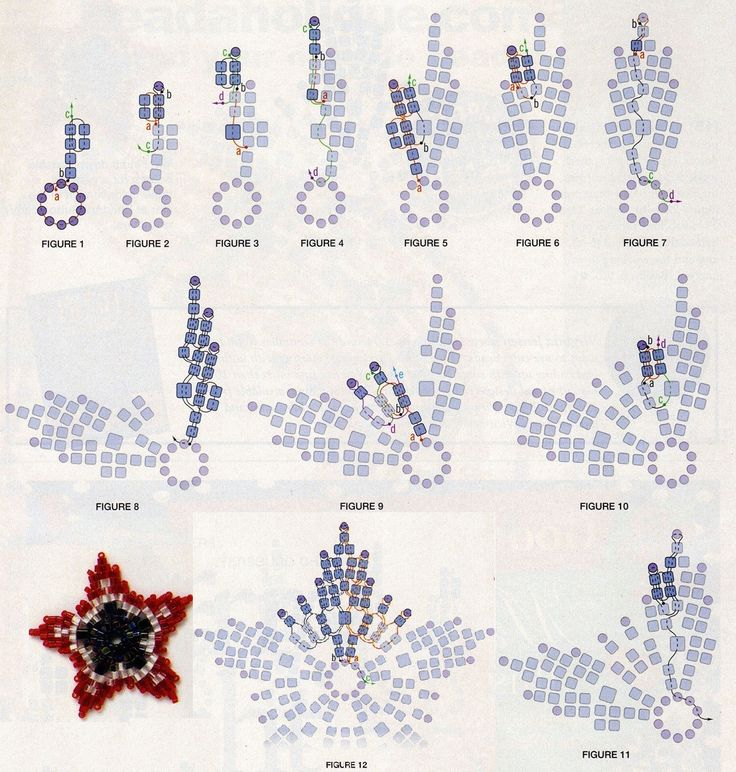 Плетение бисером схемы из журналов