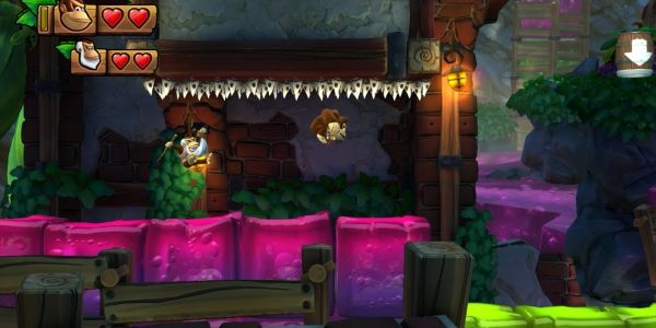 My favorite part of the new donkey kong is bouncing like scrooge