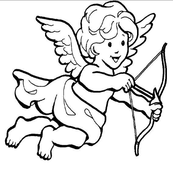 coloring pages cupid - photo#20