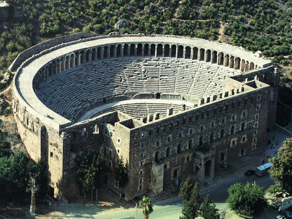 aspendos theatre turkey  places i went on holiday  Pinterest