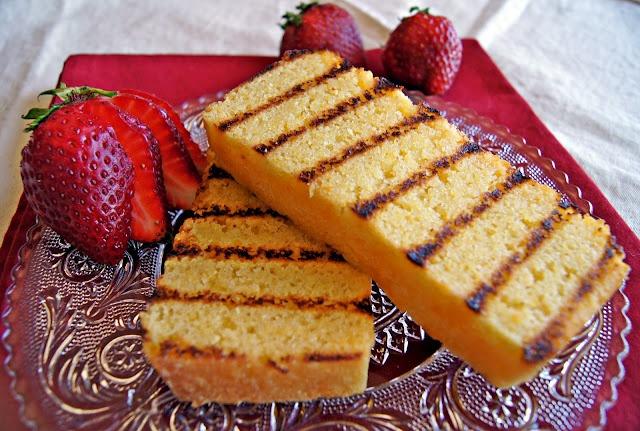 Grilled pound cake | Mmmmm, Dessert | Pinterest