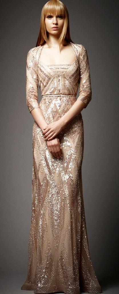 Elie saab gold sequin wedding gown i doooo pinterest for Gold sequin wedding dress