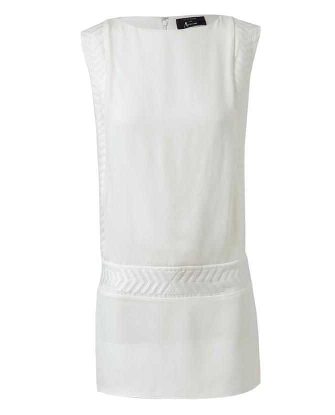 ELIN KLING X GUESS BY MARCIANO EMBROIDERED SILK DRESS